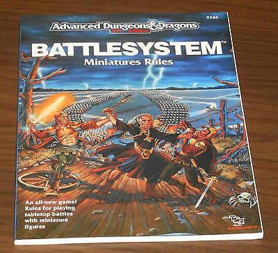 AD&D BATTLESYSTEM Miniature Rules for D&D TSR 1989 COME NUOVO Dungeons & Dragons