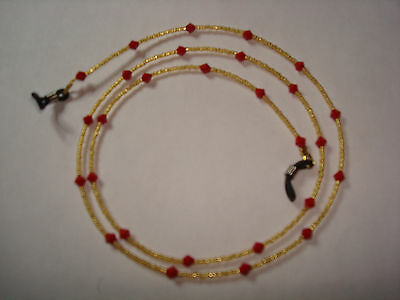 """Handmade Red Swarovski Crystal Spectacle Chain L28"""""""