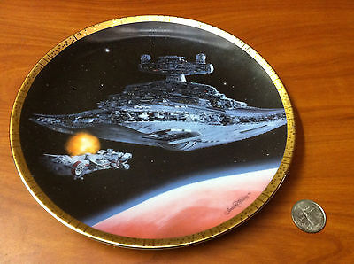 J1-11 Star Wars Space Vehicles Collection Plate - Star Destroyer Numbered Plate!