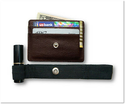 Hidden Wallet - RFID Blocking, Travel Wallet, Secure Money Holder Strap - Brown