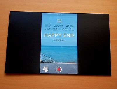 Michael Haneke HAPPY END Official Pressbook Cannes 2017 Isabelle Huppert