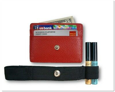 Hidden Wallet - RFID Blocking, Travel Wallet, Secure Money Holder Strap - Red