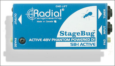Radial SB-1 Stage Bug Active DI Box for Acoustic Guitar - NEW!