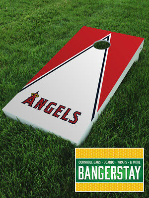 Handcrafted Cornhole Boards with Scorestrip- Anaheim Angels (AA1)