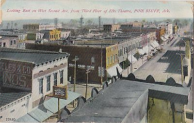 Looking East On West Ave. From Elks Theatre Pine Bluff Arkansas Street View