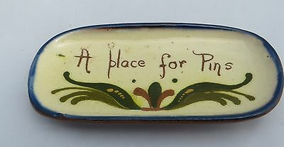 Watcombe Torquay Motto Ware - Pottery Pin Tray - Scandy - A Place for Pins