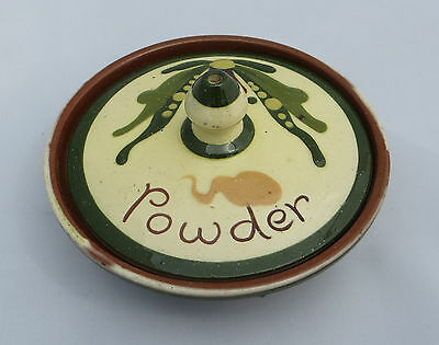 Watcombe Torquay Motto Ware - Pottery Powder Dish with lid - Scandy