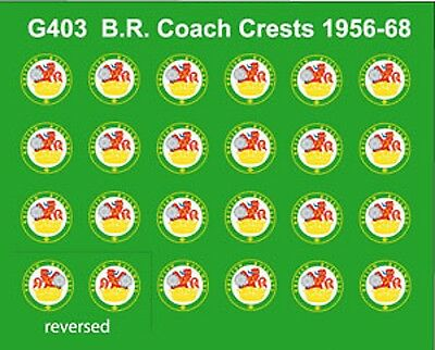 Modelmaster G403 Br Coaching Stock Crests 1956-68 Decals Transfers