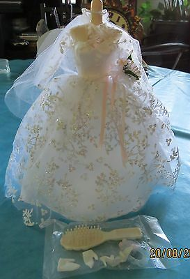 Vintage 1996 Tenue outfit set BARBIE WEDDING DAY Jour mariage mariée collection