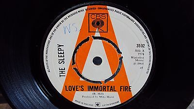 "The Sleepy - Love's Immortal Fire - 7"" - Cbs Demo - Vinyl - Extremely Rare"