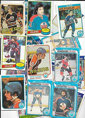 Ice Hockey Trading cards 20 Different Edmonton Oilers 1979-1983 incl Messier