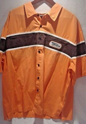 VTG 90s HARLEY-DAVIDSON 2XL RACING BUTTON FRONT SHIRT Very Nice Condition!