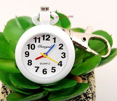 New Round easy to read time Key Ring watch Xmas gift 4 colors DK63
