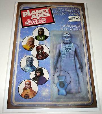 PLANET OF THE APES / GREEN LANTERN # 4 Boom!/DC Comic 2017 ACTION FIGURE VARIANT