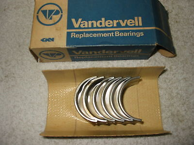 Fiat 1100, 1200 '54/'66 main bearing set -.020 see text for applications.