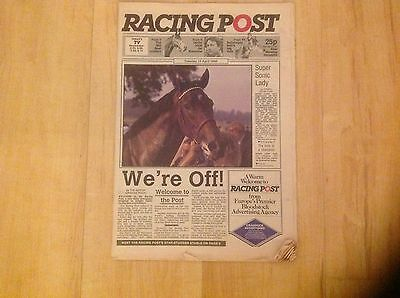 Racing Post Newspaper Issue 1, 15/04/1986 - Very Rare, Very Collectable!