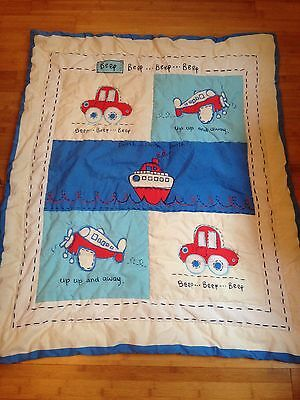 Lightweight Mothercare Toddler / Baby Boys Quilt Transport - Cot / Cot Bed - VGC