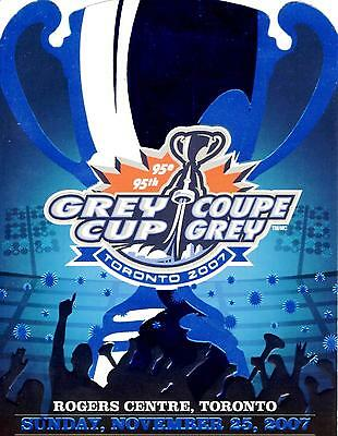 95th Grey Cup Ticket & Lounge Pass in Plastic Lanyard and Ribbon 2007 Toronto.