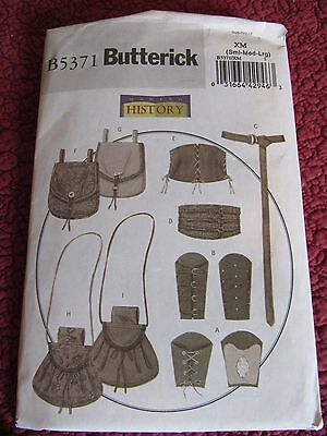 UNCUT Butterick Making History Pattern Renaissance Bag, Purses Belt Sleeves