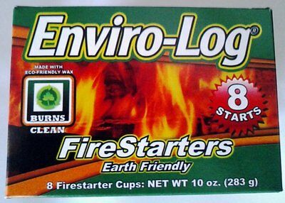 Enviro-Log Earth Friendly Firestarter 8 Starts for Fireplace Wood Stove Camping
