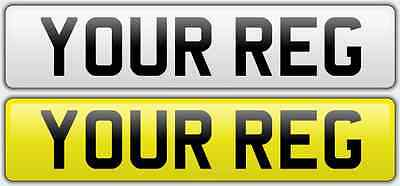 Front And Rear Pair Number Plates Road Legal & Mot Compliant Car Van Motorhome