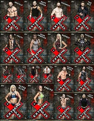 Topps SLAM WWE Extreme Rules PPV Black [18 Card Base SET] Bliss/Bayley/Wyatt+++