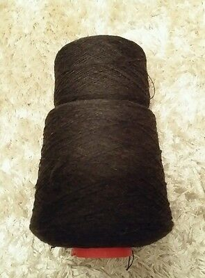 Approx 900g of brown mix lambswool in a colour called cocoa. See description