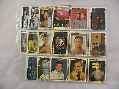 Star Trek Original Motion Picture Trading Cards 1-33 From 1979