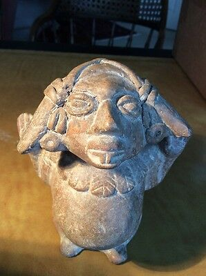 Maya Pregnant Blood Offering Goddess Vessel - Pre-Columbian Mayan Mexico 400-600