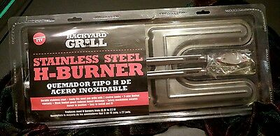 Backyard Grill Stainless Steel H Burner replacement bbq Universal most 15 - 22