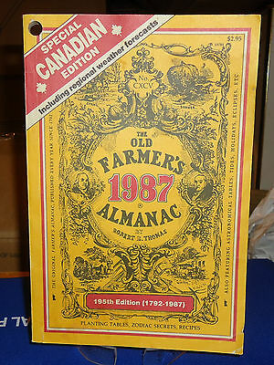 Old Farmer's Almanac 1987 Weather Forecasts Planting Zodiac Cooking