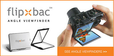"FlipBac 3"" angled viewfinder"
