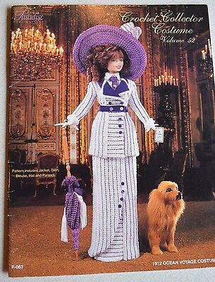 "1912 Ocean Voyage Costume Crochet 11.5""  Fashion Doll Pattern Paradise Vol.52"