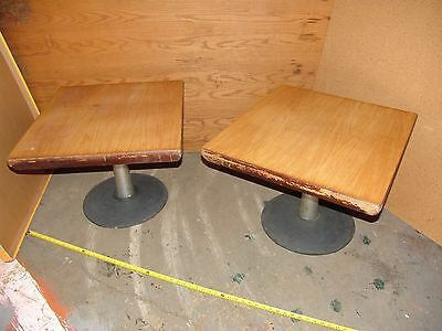 Herman Miller / Aluminum Group Style Eames Era Living Room Tables PAIR 20th Mod