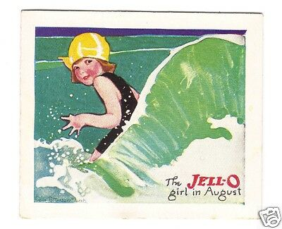 Jell-O Girl In August Recipe Card-Lucille Patterson Marsh 1924