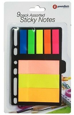 8 pc Sticky Notes Set Memo Pad Post A6 Ringbinder Sheet Page Marker Tab