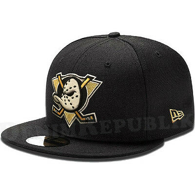 New Era 5950 ANAHEIM DUCKS Black New Fitted Cap Men's NHL Hat Hockey