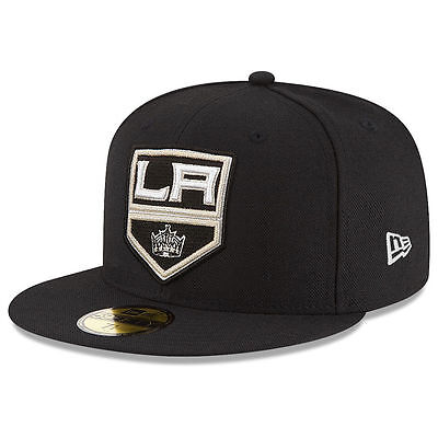 New Era 5950 LOS ANGELES KINGS LA Black Fitted Cap Men's NHL Hat Hockey