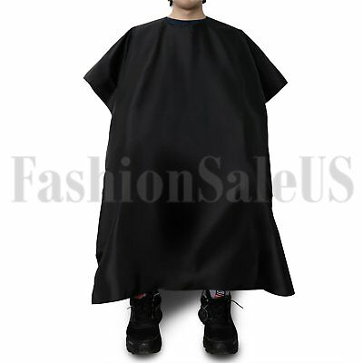 Hair Cutting Cape Pro Salon Hairdressing Hairdresser Gown Barber Cloth Black New