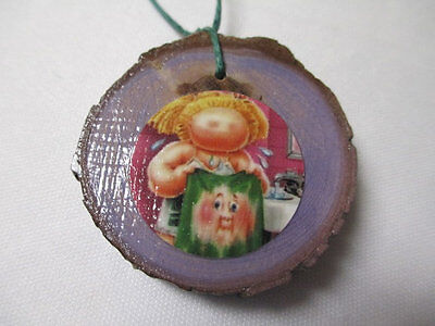 GARBAGE PAIL KIDS Christmas Ornament - Tree Branch Wood Slice Doublesided Gross