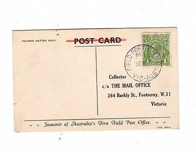 Australia 1937 1d FIELD POST OFFICE Cover, GOLF LINKS DONCASTER Vic