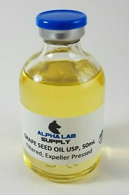 Grape Seed Oil 100% Sterile Filtered USP GRADE 50mL - FREE SHIPPING