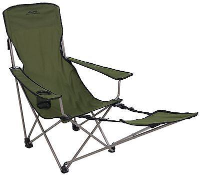 Camping Chair With Footrest Reclining Folding Stool Beach Chaise Outdoor Lounger