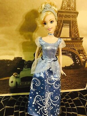 "2011 Disney Princess Deluxe Cinderella Barbie Doll 11.5"" Mattel (X2843)"