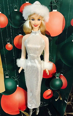 "2001 Christmas Holiday Excitement Barbie Doll 12"" 29203"