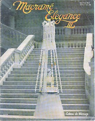Vintage Macrame Elegance Magazine 1970s  Wedding Cake cradle Hangings Jewelry