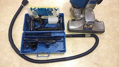 Vintage Kirby Vacuum Cleaner Works Tradition 3CB 3-CB Blue with Attachments
