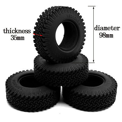 """4pcs 1.9"""" 98mm OD Tyres Tires for 1/10 RC Crawler F350 RC4wd Axial SCX10"""