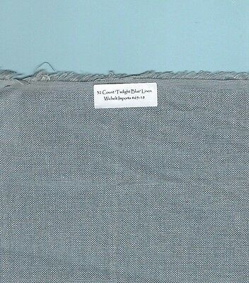 "32 Count ""Twilight Blue' Linen Wichelt #65-18 RETIRED, Choice of FE or smaller"