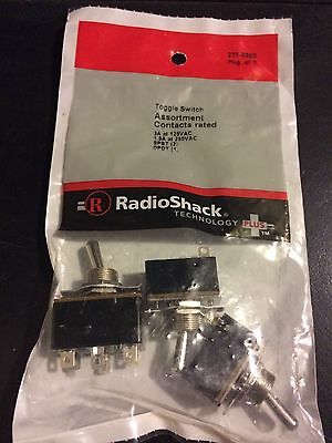Radio Shack Toggle Switch Assortment Lot of 3 Switches #275-0322